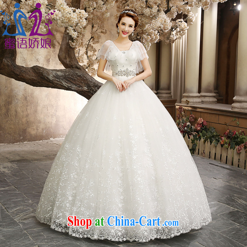 wedding dresses 2015 new autumn package shoulder shawl Palace antique lace larger graphics thin pregnant Princess Korean wedding custom marriages by go white XXL