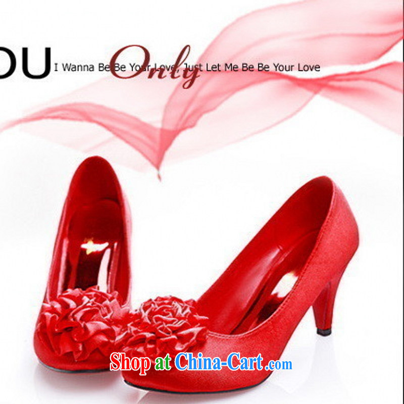 Wedding shoes 191 - 3 red high quality bridal shoes dress shoes dresses shoes wedding bridal Princess 39