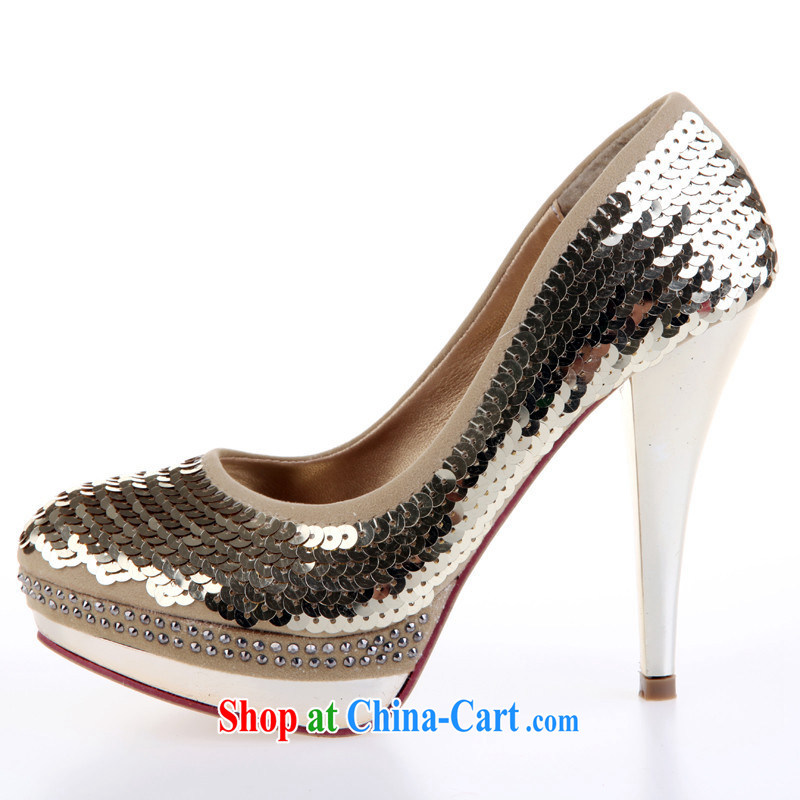 Wedding shoes red wedding shoes wedding dress shoes bridal shoes 2014 Women's shoes, shoes, shoes and gold 39