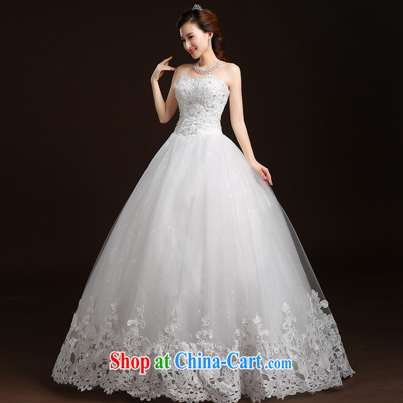 Qi wei wedding dresses summer 2015 new stylish Korean wiped his chest lace inserts drill with tie-A Field wedding marriages retro wedding wedding female white customization required the $50 7 - 15 day shipping