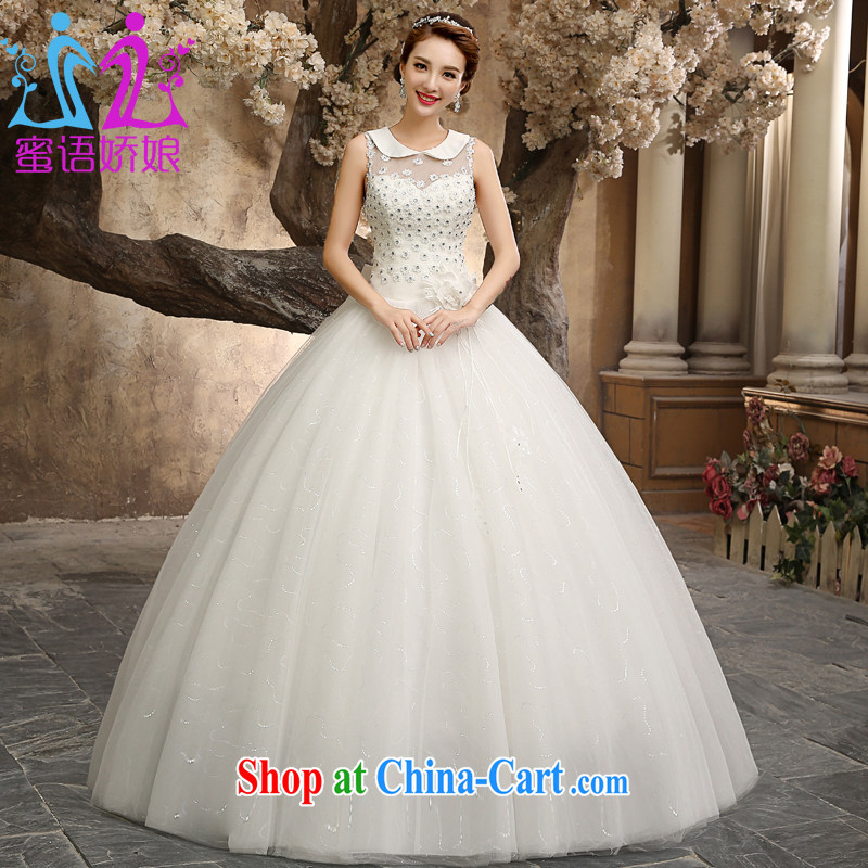 Honey, bride wedding dresses 2015 new paragraph to align with the Code graphics thin marriages by out lapel fresh modern style white wedding white XXL