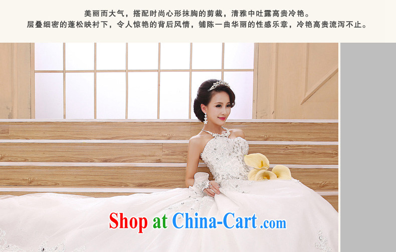 Early definition Deluxe Large tail 2015 new wedding Korean elegant erase chest high water drilling long-tail wedding girls with XXL, pictures, price, brand platters! Elections are good character, the national distribution, so why buy now enjoy more preferential! Health