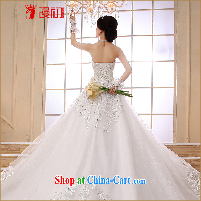 Early definition Deluxe Big-tail 2015 new wedding Korean version elegant wiped his chest high water drilling long-tail wedding girls with XXL paragraph, diffuse, and, on-line shopping