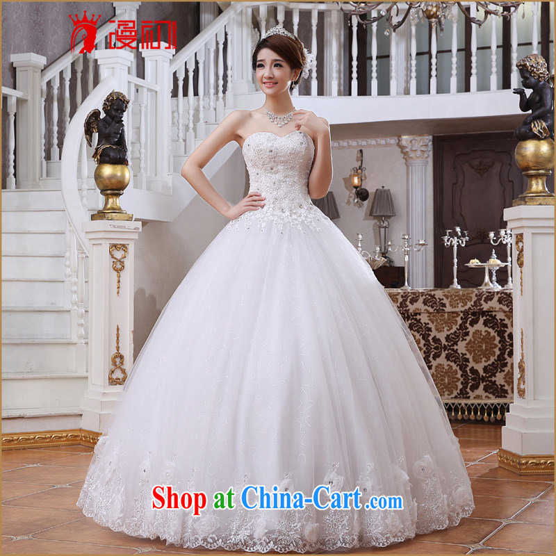 Early spread new 2015 wedding dresses Korean bridal beauty with bare chest beauty graphics thin spring and summer wedding white XXL