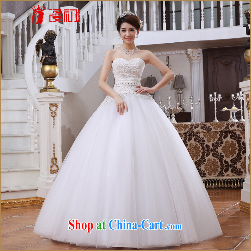 Early spread new 2015 graphics thin wedding dresses Korean wiped his chest to graphics thin marriage A swing wedding white XXL