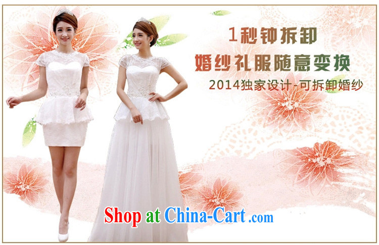 Early definition 2015 new wedding dress two Korean Korean Princess bride removable tail wedding dresses and dragging XXL pictures, price, brand platters! Elections are good character, the national distribution, so why buy now enjoy more preferential! Health