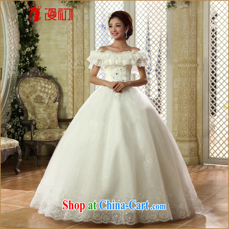 Early definition 2015 New Field shoulder wedding Korean flouncing for brides wedding dress video thin straps with wedding white XXL