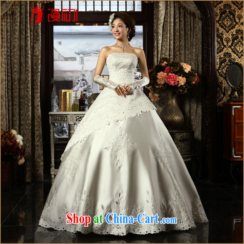 Early definition 2015 new wedding nice car bone take wedding lace bare chest Princess wedding upscale Satin wedding white XXL