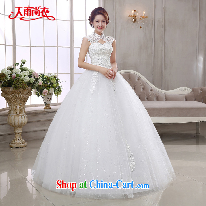 Rain is still clothing bridal wedding dress 2015 new Korean code inserts drill and elegant with a strap attached also lace sexy white wedding HS 877 white L