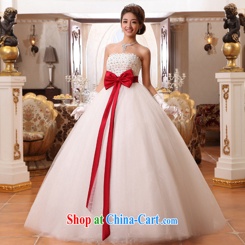 A good service is 2015 new bride high waist bare chest pregnant wedding dresses Princess thick MM larger custom white 8 XL