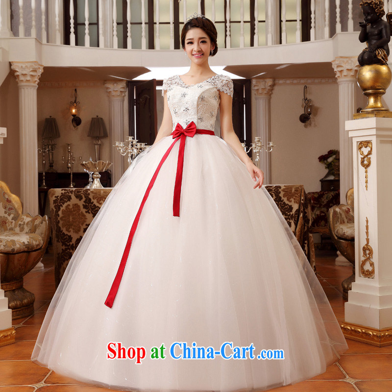 A good service is 2015 New royal bride wedding field shoulder lace larger thick MM graphics thin wedding dresses white 8XL
