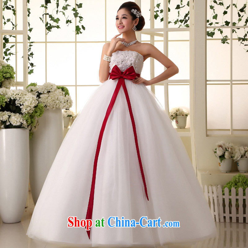 A good service is a new 2015 Korean high waist pregnant women wedding dresses Princess large code mm thick skirts wedding white 4XL
