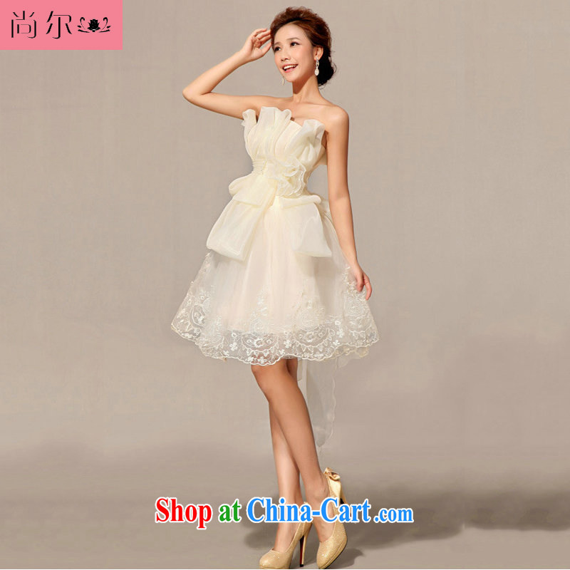 Still, 12,014 new bridesmaid toast dress uniform dress short, Al 00,289 white XXL