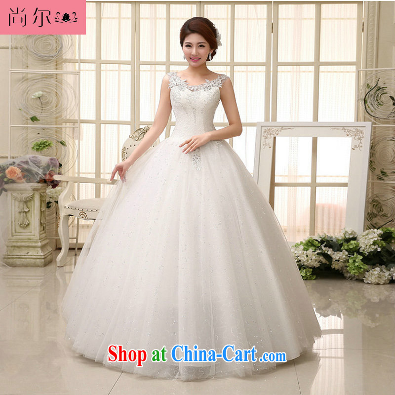Still, 12,014 new bridal wedding dresses fine lace Openwork package shoulder luxury wedding dresses Al 00,283 white XXL