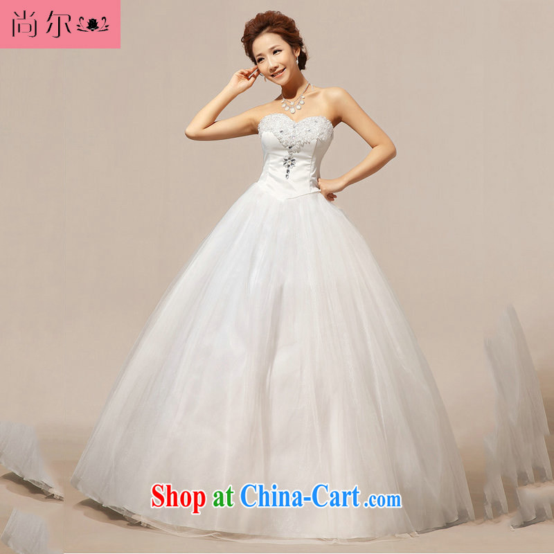 Still, 12,014 new wedding wiped his chest crystal Korean wedding dresses Al 00,274 white XXL