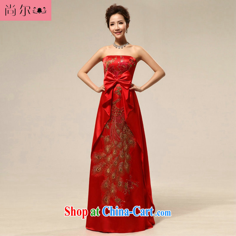 There are 12,014, spring and summer, embroidery peony flowers pregnant women dress uniform toast Al 00,270 red XXL