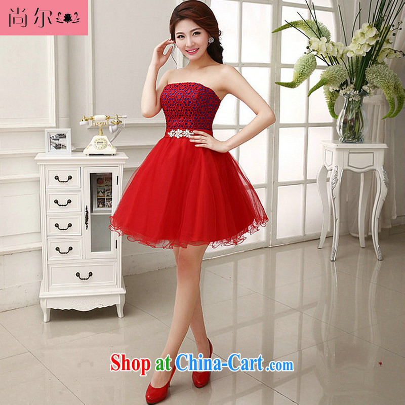 Still, 12,014 new dress bride toast wedding service sister's short red dress Al 00,253 red XL