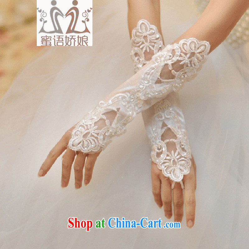 Honey, bride white wedding gloves new terrace a long gloves lace without a wedding accessory bridal wedding gloves white