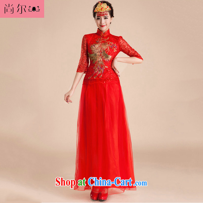 There's a new paragraph 2014 serving toast wedding antique wedding dresses bridal wedding Al 00,261 red XXL