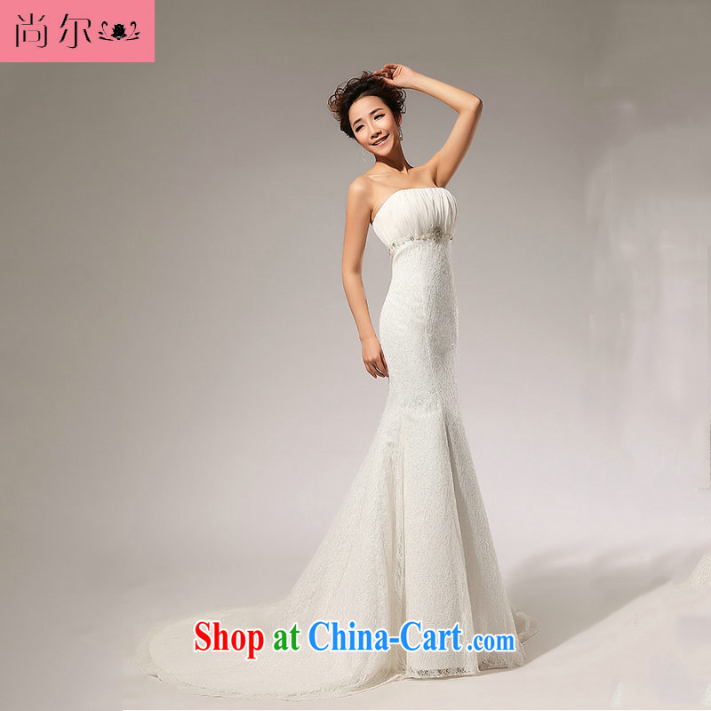 Still, 12,014 new lace WITH THE WAIST skirt A erase chest wedding dresses long skirt Al 00,309 white XXL