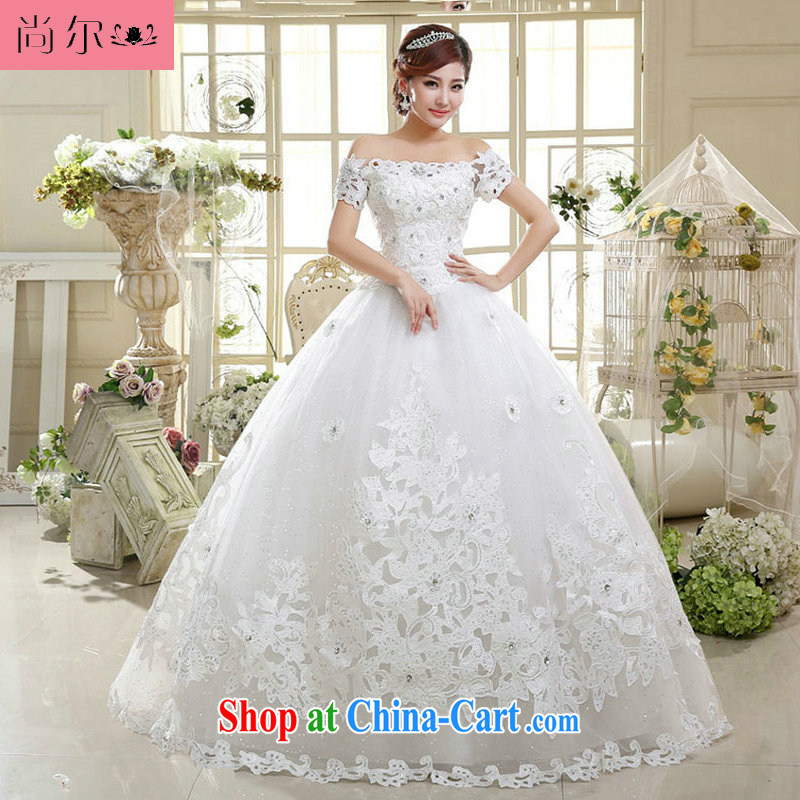 There's a new paragraph 2014 tie-in with the Field shoulder shaggy skirts bridal Princess wedding Al 00,306 white XL