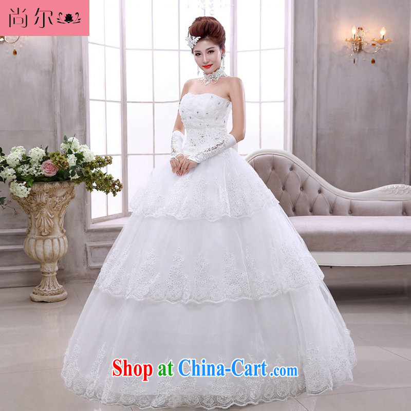 There's a bridal light V collar white Korean marriage spring with tie wedding dresses Al 00,304 white XXL
