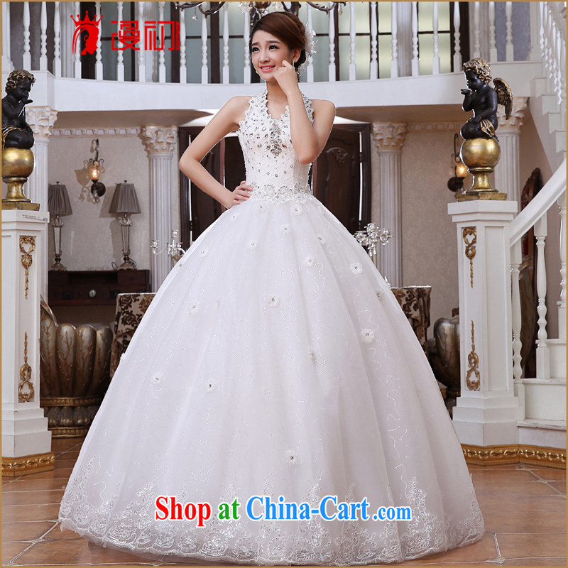 Early definition is also wedding dresses new 2015 diamond jewelry flowers with strap wedding V-neck bridal the wedding white XXL