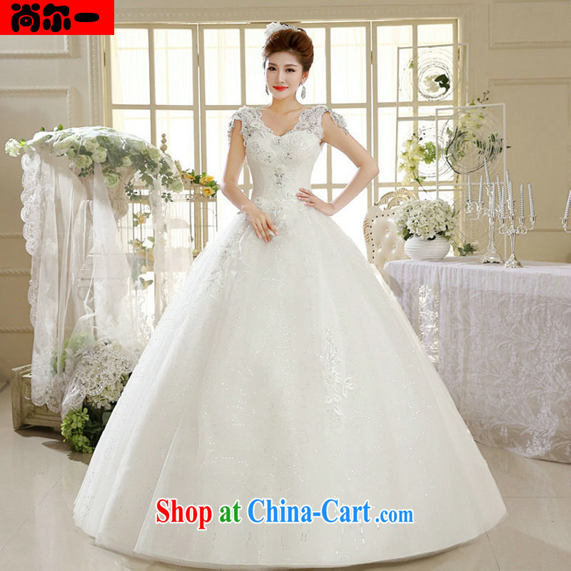 Still, 12,014 summer dress white bride's new with antique Korean light V collar wedding dresses Al 00,295 white XXL