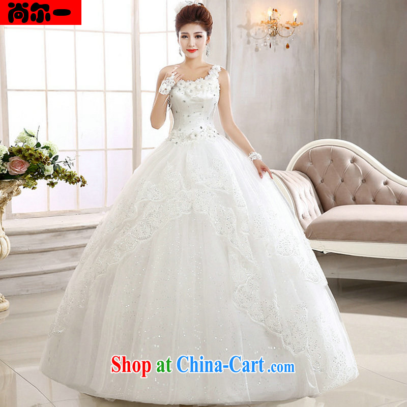 Still, 12,014 new stylish wedding dresses Korean version the shoulder with straps drill wedding Al 00,294 white XXL
