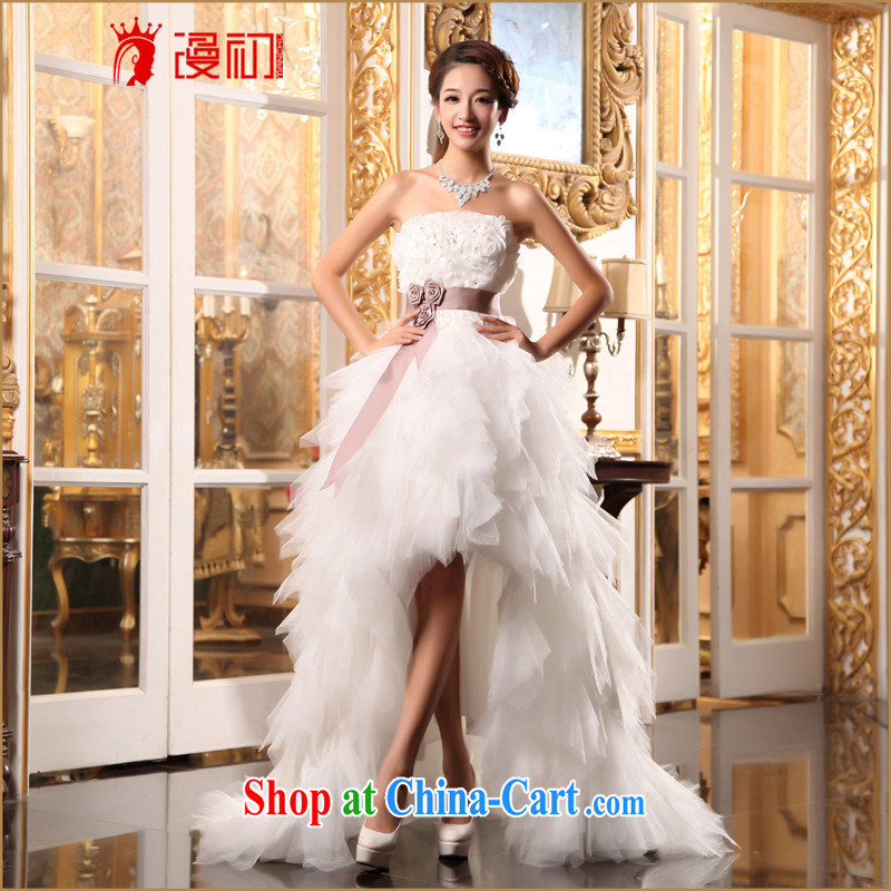 Early definition wedding dresses new 2015 Korean sweet Mary Magdalene Princess chest short before long small tail marriages wedding white. Contact Customer Service