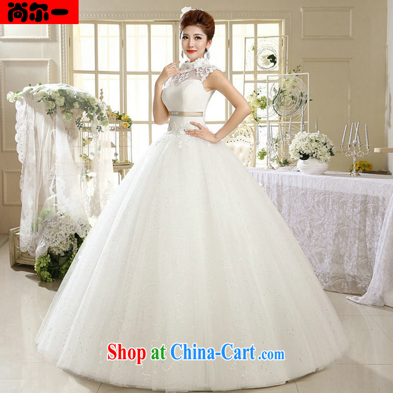 Still, 12,014 Korean Princess white lace retro with summer tie-up collar wedding Al 00,312 white XXL