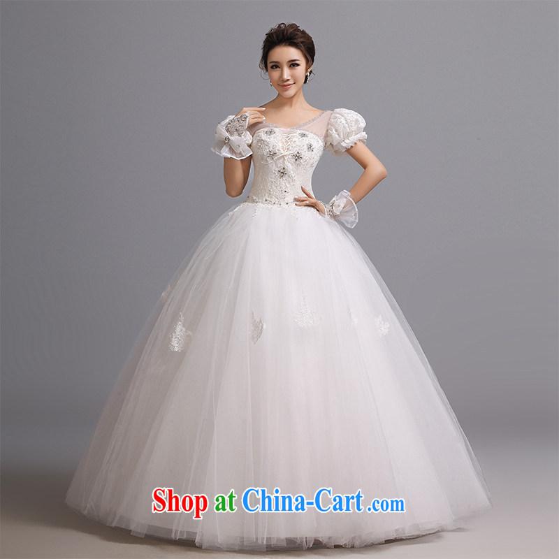 Hi Ka-hi wedding dresses 2015 new retro Palace Princess cuff straps shaggy dress flare bridal package shoulder wedding J 005 white XXL