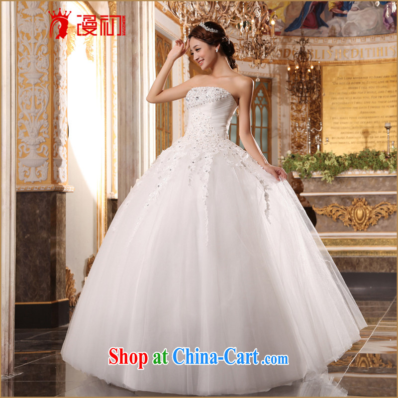 Early definition 2015 new Korean brides with wedding wiped his chest, Princess wedding sweet white wedding white XXL