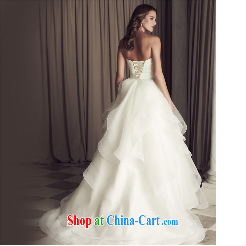 Honey, bride 2015 new wedding dresses in Europe and stylish high-end small-tail retro wiped his chest and tied with white XL, honey, bride, shopping on the Internet