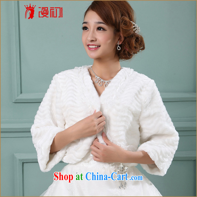 Early definition wedding dresses accessories bridal wedding jacket Winter Sweater shawl autumn and winter shawl lint-free cloth short hair shawl wedding shawl white are code
