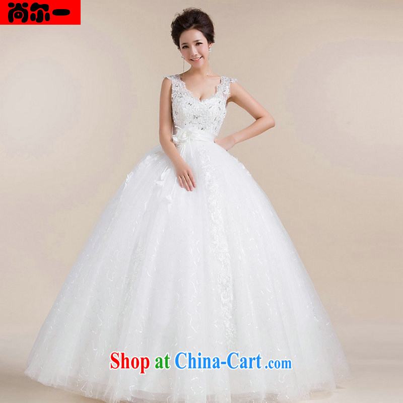 There is a new, high-waist with wedding dresses double shoulder strap shaggy dress wedding pregnant wedding XS 1301 white XXL