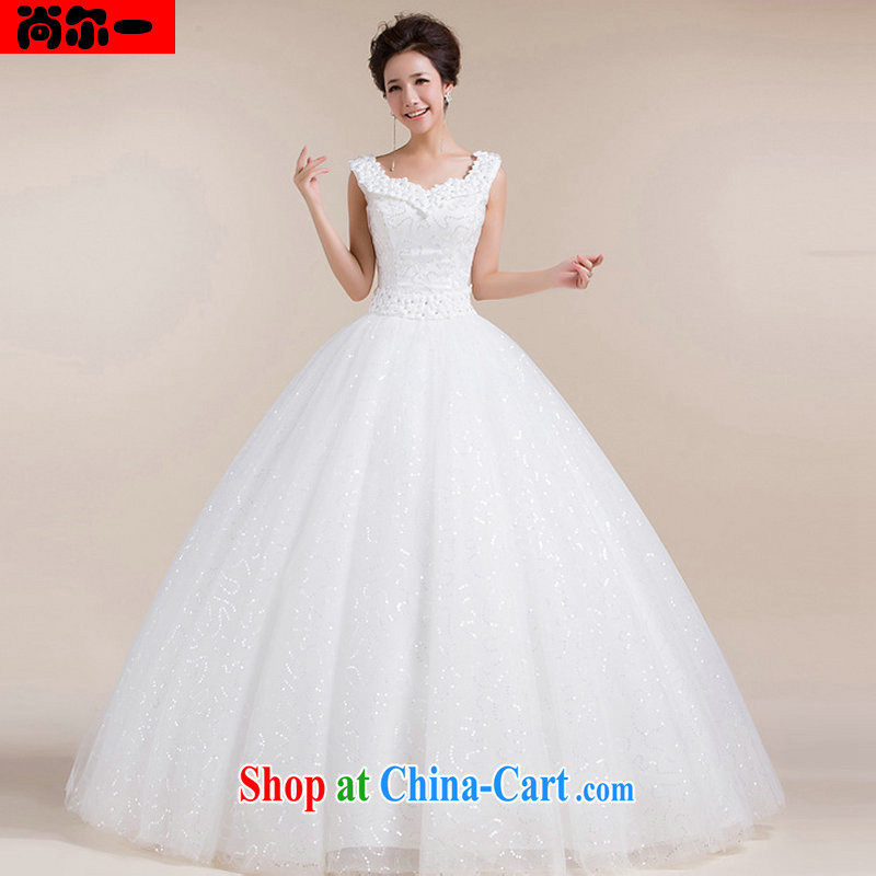 There is a Korean version with shaggy dress retro bridal wedding dresses waist stylish and simple wedding dresses XS 1302 white XXL