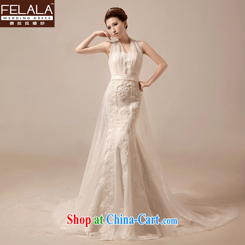 Ferrara new stylish hang Ms. also wedding dresses 2015 tail graphics thin bridal crowsfoot lace wedding XL (2 feet 2)