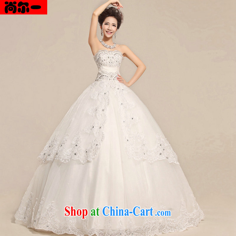 Still, 12,014 new, decorated with bare chest lace elegant pregnant high waist royal wedding dresses XS 8708 white XXL