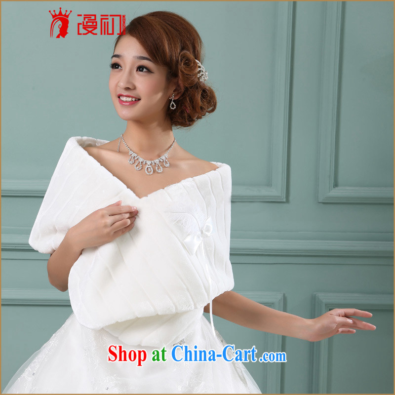 Early definition wedding dresses accessories bridal hair shawl stylish and warm wedding dresses accessories Korean warm hair shawl white are code