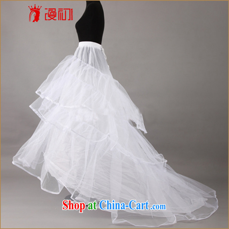 Early definition 2015 new wedding dresses wedding accessories wedding steel ring skirt stretch tail wedding dedicated skirt stays white all code