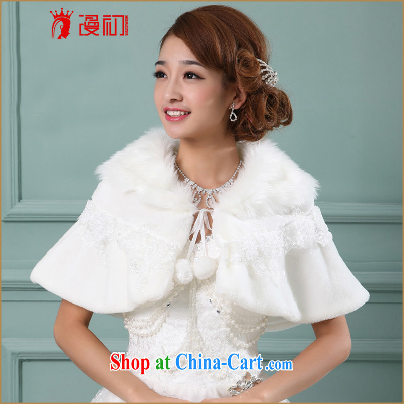 Early definition 2015 new wedding shawl bridal wedding dress shawl Korean warm thick white long-sleeved shawl white are code