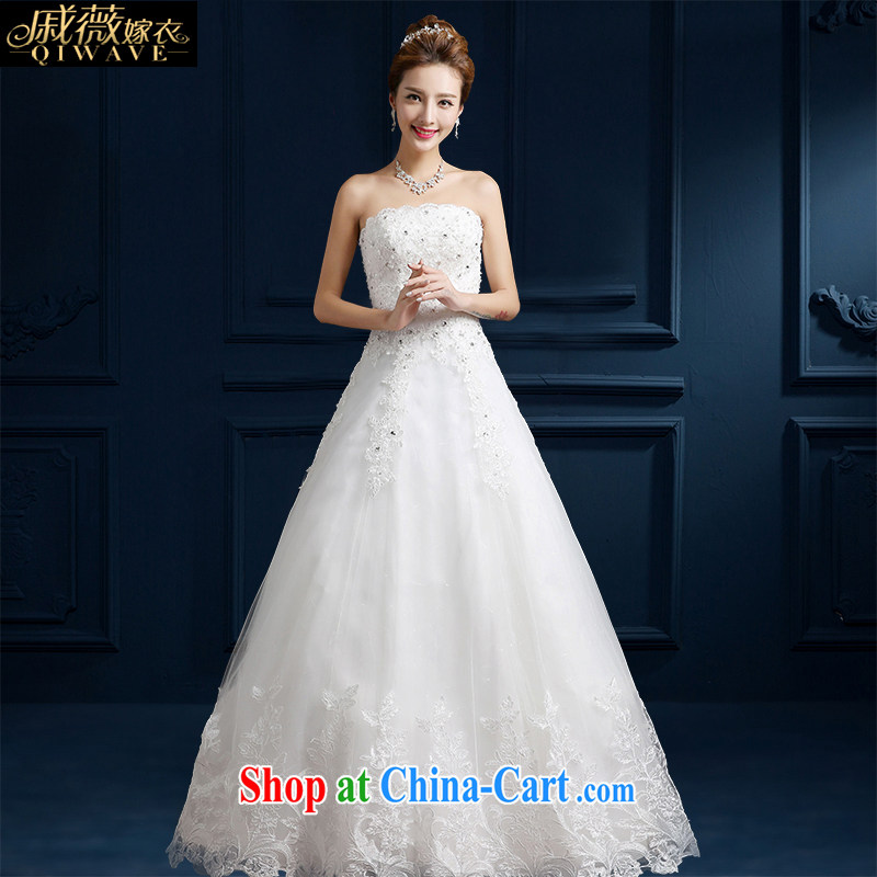 Qi wei summer 2015 new wedding dresses bare chest A Field dress bridal wedding white with strap wedding dress stylish graphics thin white perfect beauty edition B M