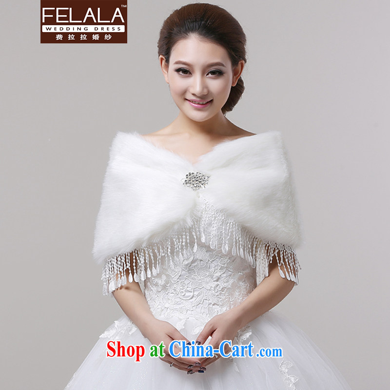 Ferrara elegant lace flow, widen thick white water drilling hair shawl bridal winter wedding long shawls