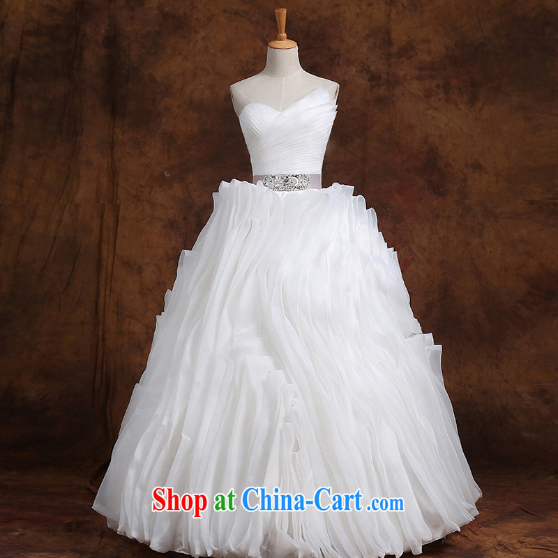 Qi wei wedding dresses summer 2015 new Korean white with wood drill wiped chest bridal straps graphics thin large code wedding white customization the $50