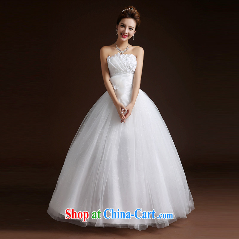 Qi wei Han-style wedding dresses with wedding dress wedding Bride With wedding women 2015 summer wedding new wedding with shaggy skirts A field skirt white XL