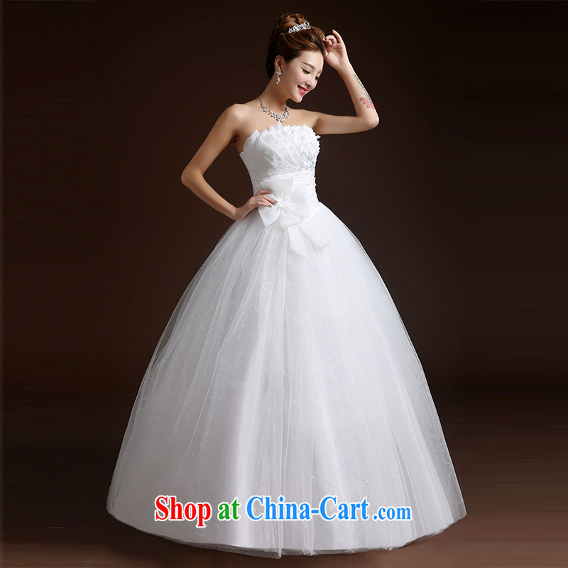 Wei Qi Korean wedding dresses with wedding dress wedding Bride With wedding women 2015 summer wedding new wedding with shaggy skirts A field skirt white XL, Qi wei (QI WAVE), shopping on the Internet