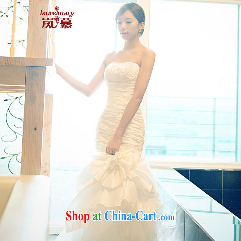 LAURELMARY sponsors the 2014 new Korean Lady style lace-patterned towel chest extreme sexy beauty package and crowsfoot with wedding ivory Custom size _please contact Customer Service_