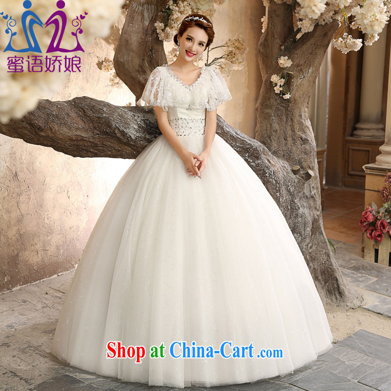 Honey, bride wedding dresses 2015 new strap with a shoulder bag for high waist Korean version of the greater code thick bridal wedding dresses can be tailored white tailored