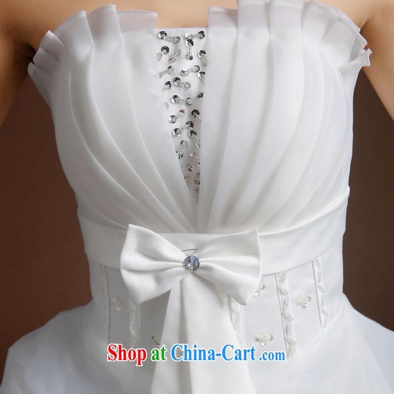 Ms Audrey EU Qi 2015 summer new wedding dresses stylish Mary Magdalene antique chest strap wedding Princess large tail shaggy wedding dresses skirt white XL, Qi wei (QI WAVE), online shopping